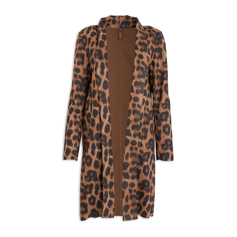 Animal Suede Coat -