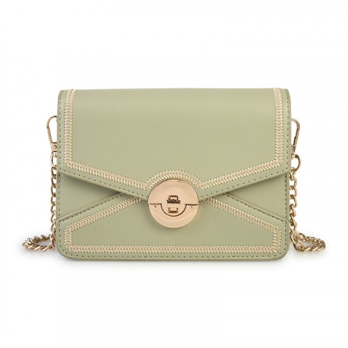 Sage Embroided Clutch -