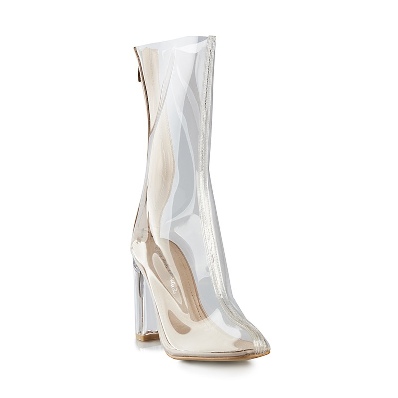 Nude Clear Boot -