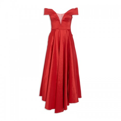 Red Bardot Dress -