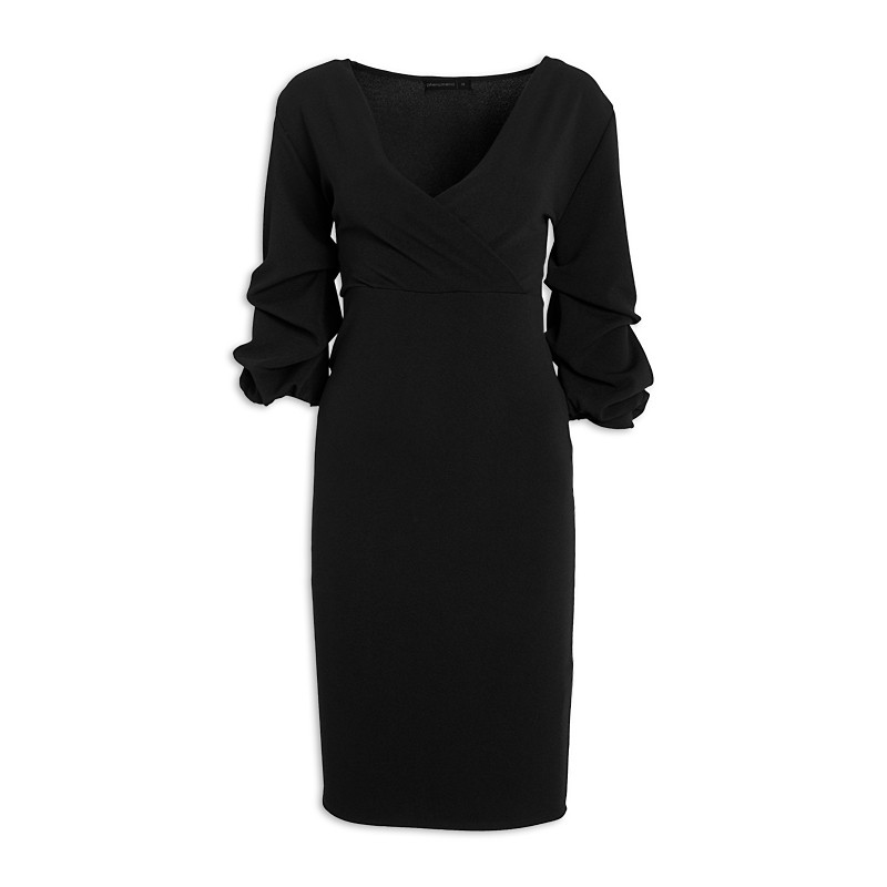 Black Puffsleeve Dress -