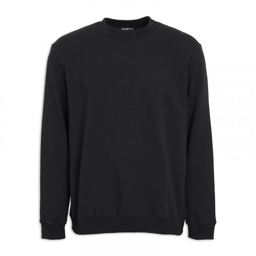 Black Rib Sweat Top -