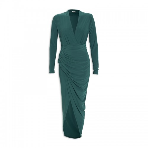 Emerald Slinky Dress -