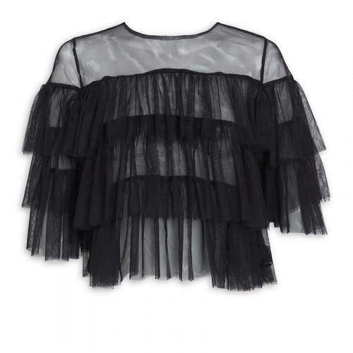 Black Tulle Top -