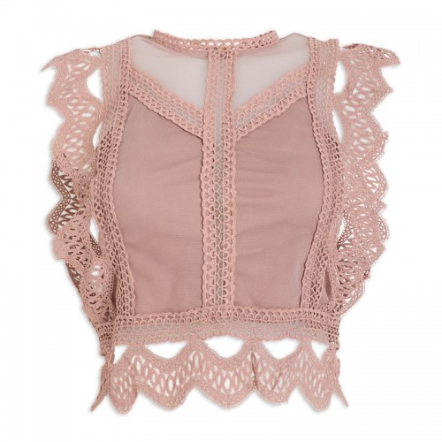 Nude Lace Top -