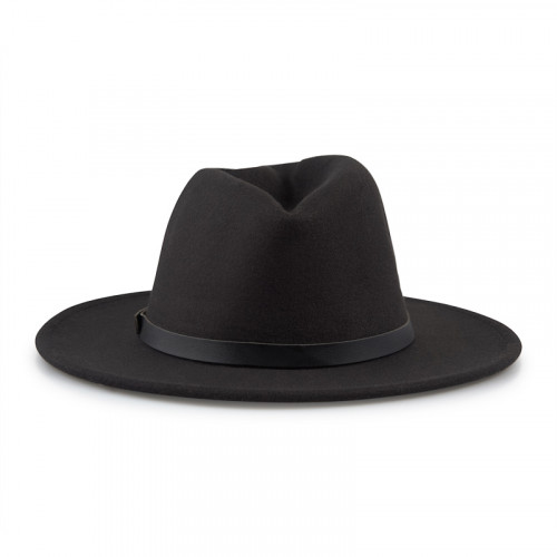 Black Belt Fedora Hat -