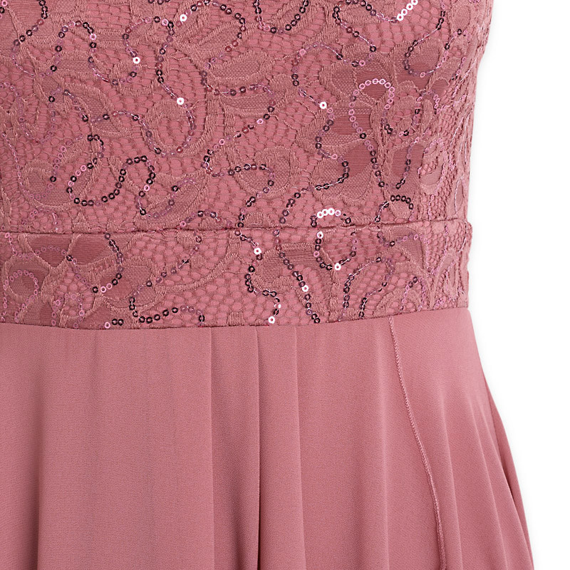 Dark Pink Hi-Low Dress -