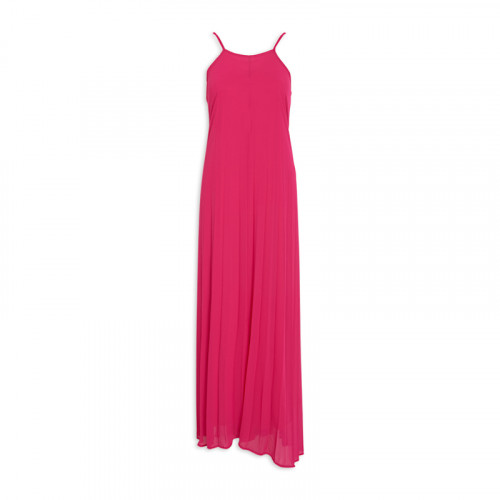 Cerise Pleated Dress -