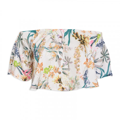 Floral Bardot Swing Top -