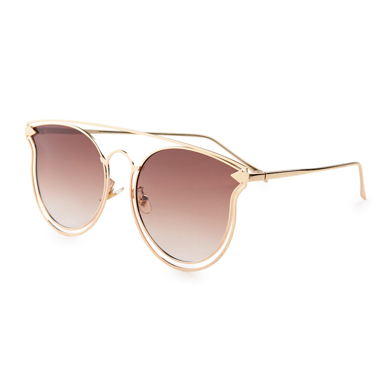 Gold Cateye Sunglasses -