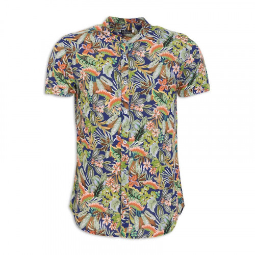 Blue Tropical Short Sleeve Shirt -