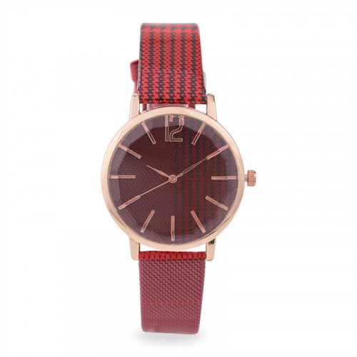 Red Tartan Watch -