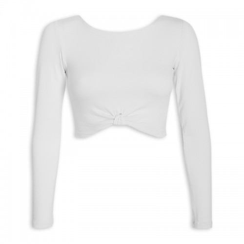 White Crop Top -