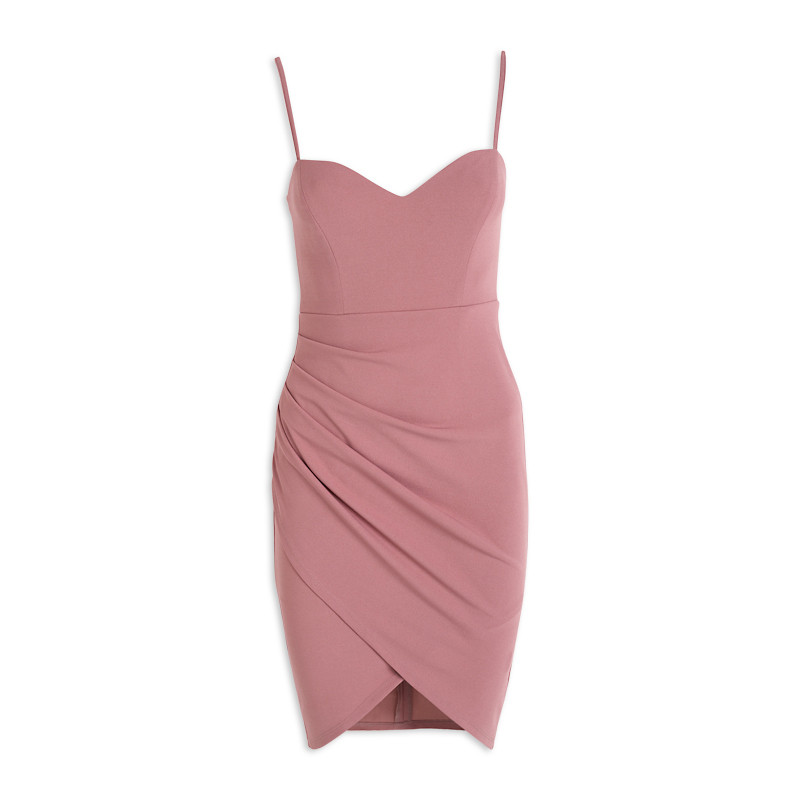Rose Pink Wrap Dress -