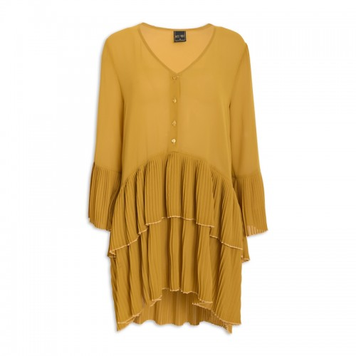 Curry Pleated Blouse -