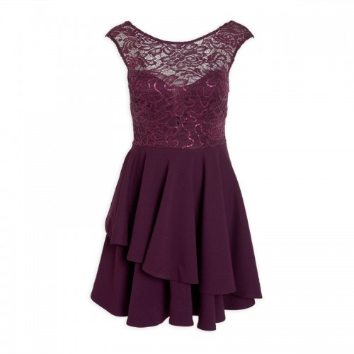 Plum Party Dress -
