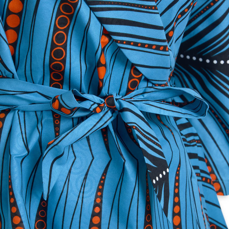 Ankara Print Wrap Dress -