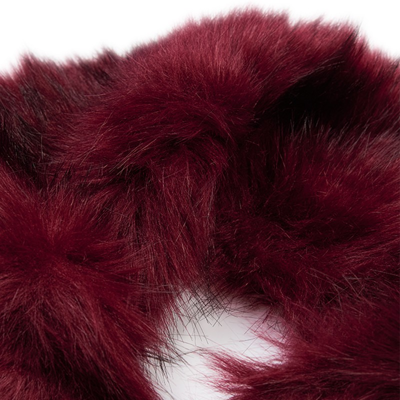 Burgundy Faux Fur Stola -