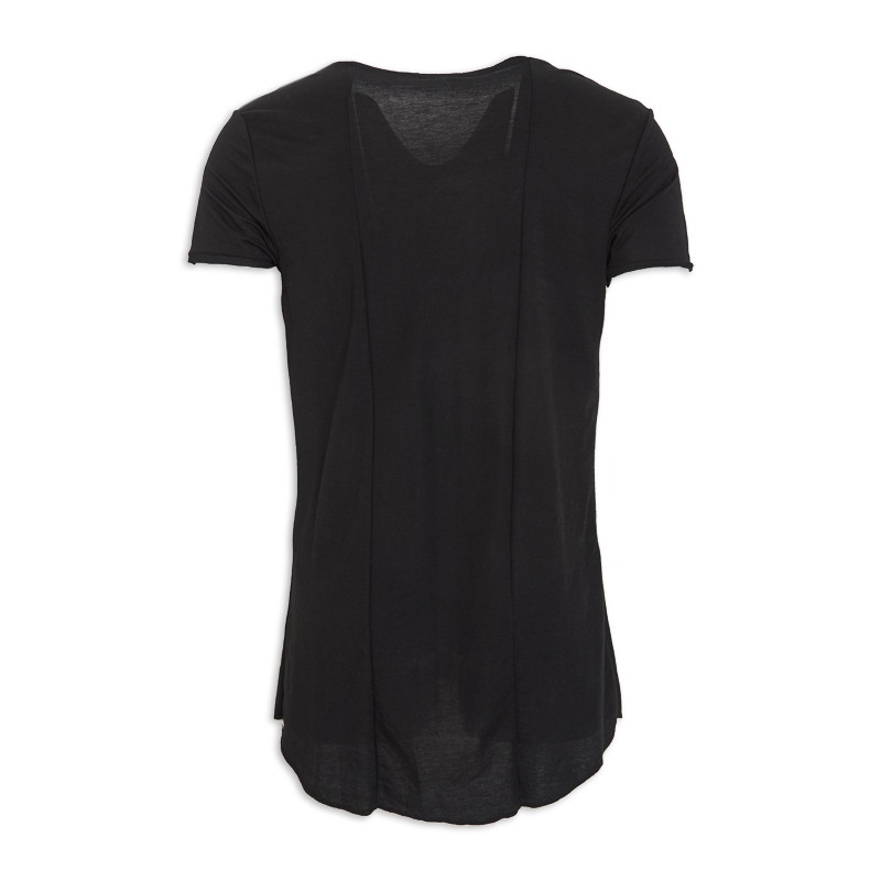 Black Short Sleeve T - Shirt -