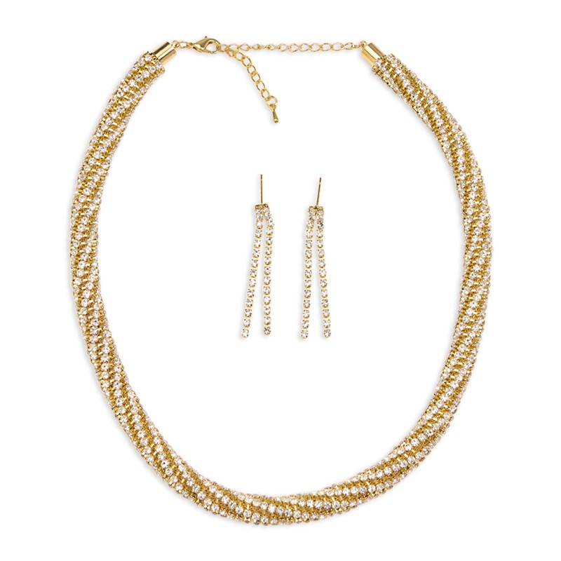 Gold Diamante Set -