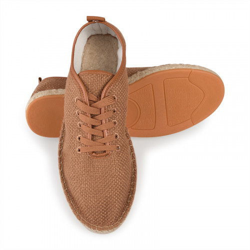 Brown lace-up espadril -