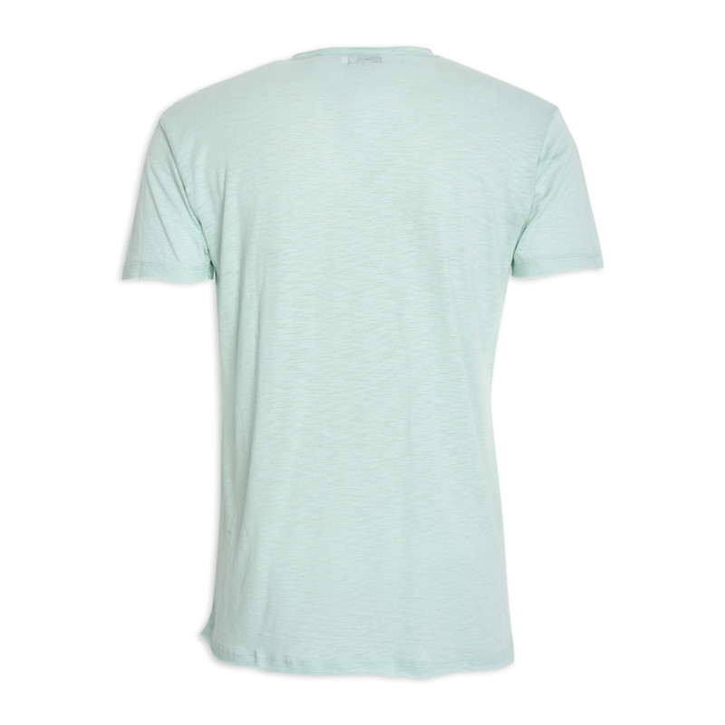 Mint Printed Crew Neck T-Shirt -