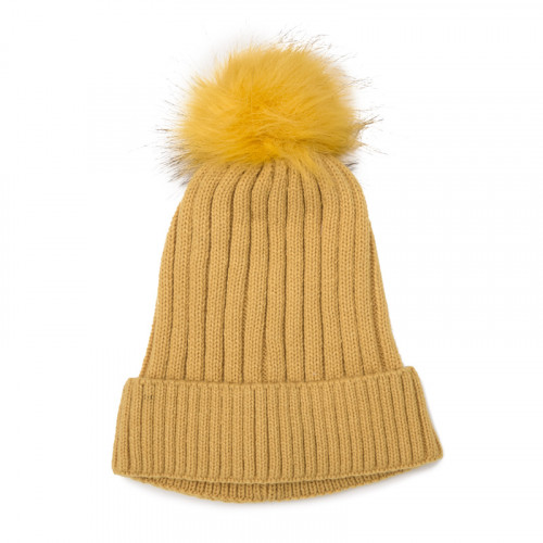 Mustard Cable Beanie -