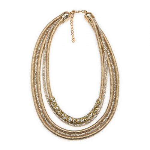 Gold Diamante Multi Strand NL -