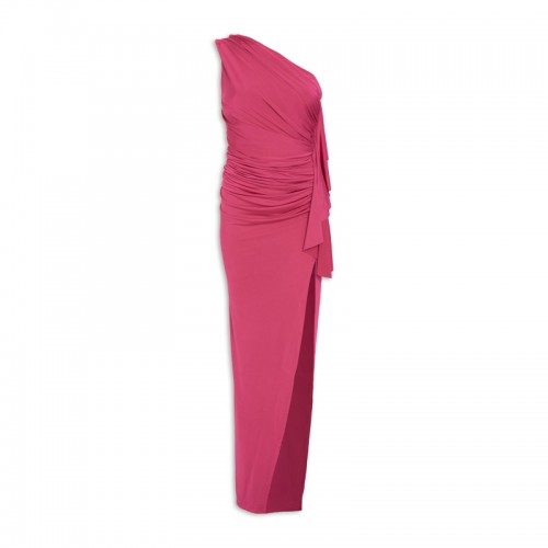 Hotpink Asymmetric Dress -