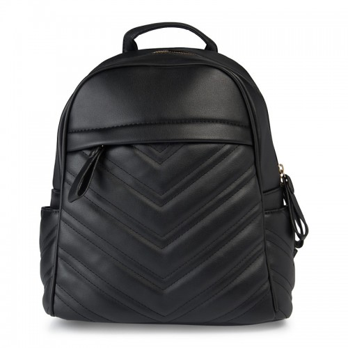 Black Quilt Backpack -