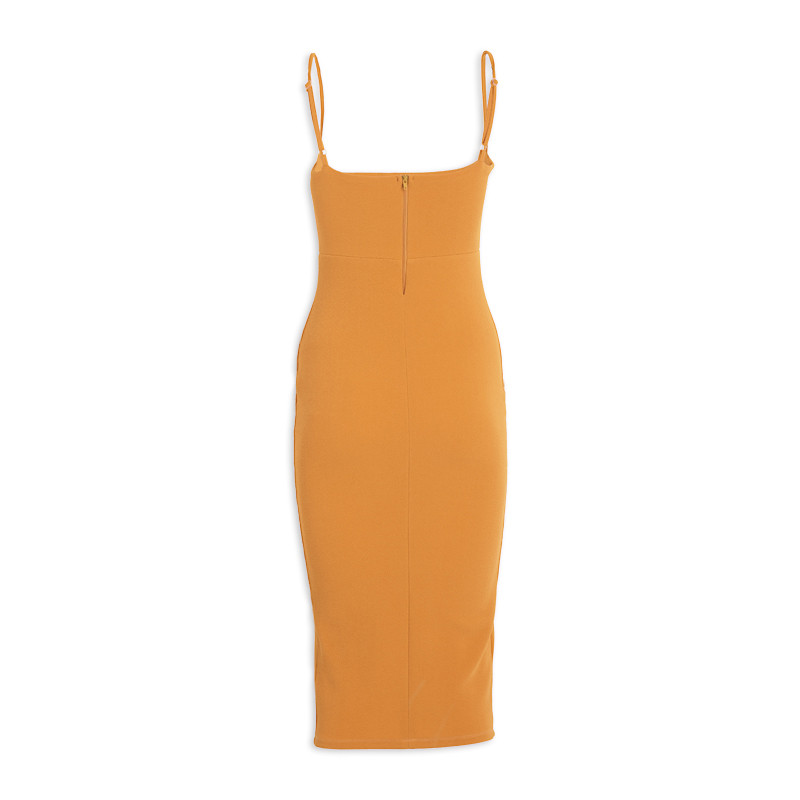 Mustard Bodycon Dress -