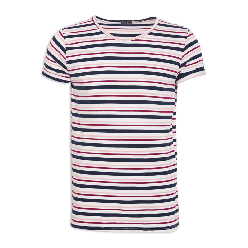 Multi Stripe Crew Neck T-Shirt -