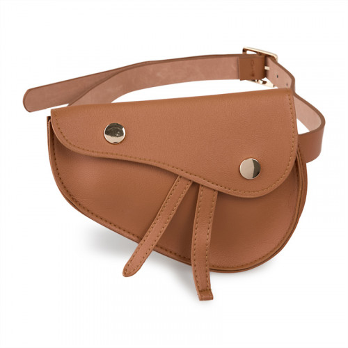 Tan Saddle Waist Bag -