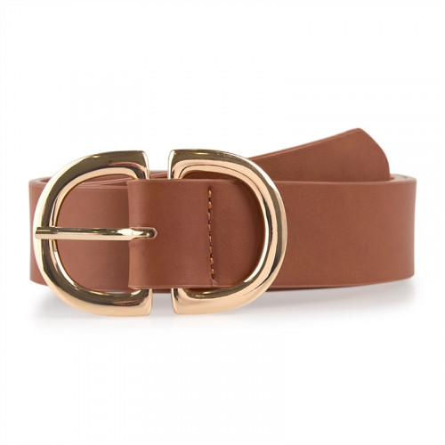 Tan Double Buckle Belt -