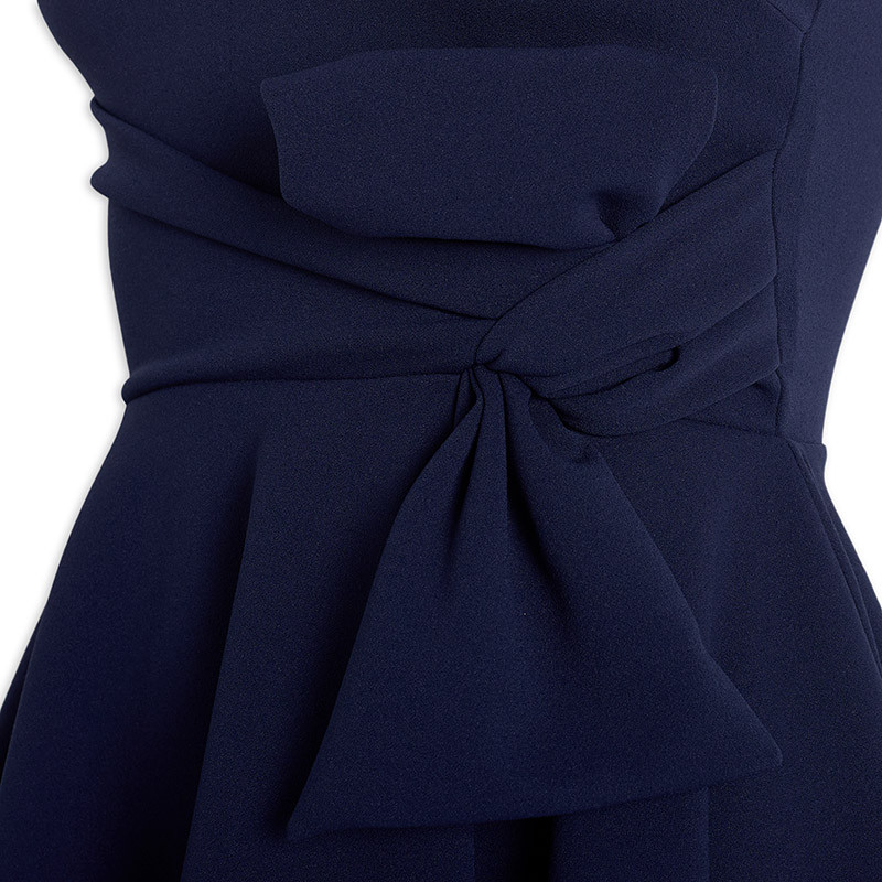 Navy Bow Dress -