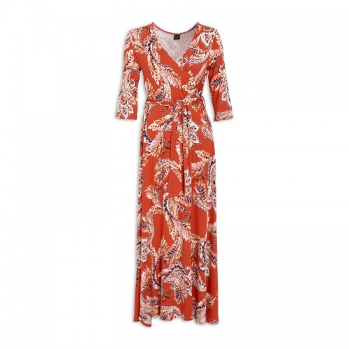 Paisley Wrap Dress -