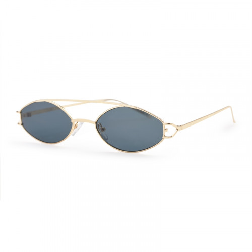 Gold Frame with Black Lens -