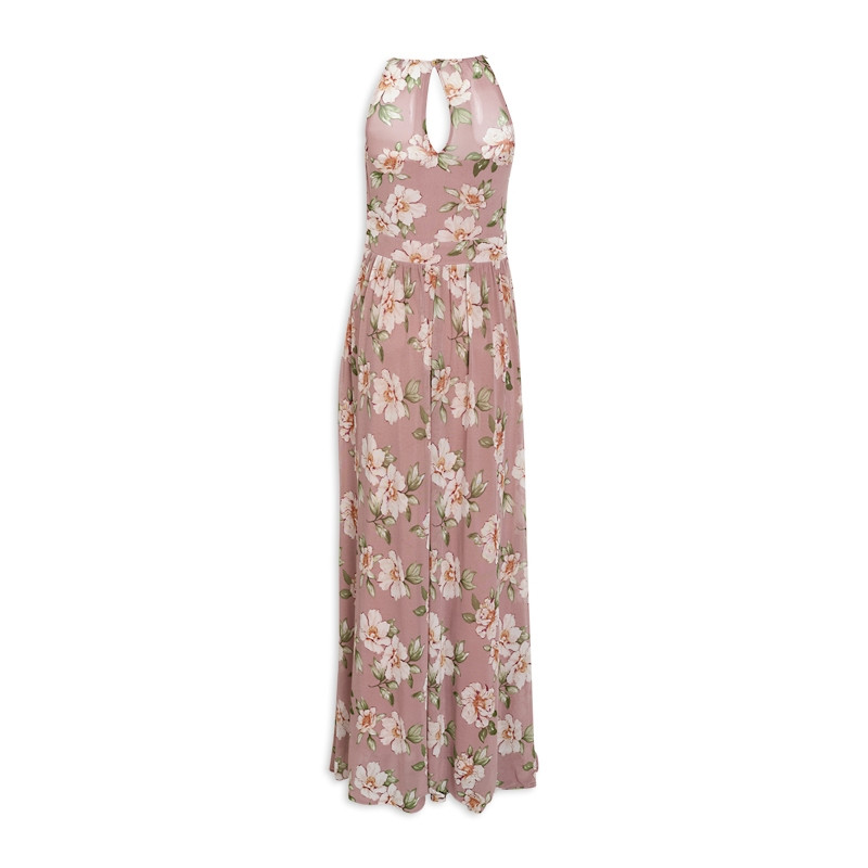 Dusty Floral Ruched Dress -