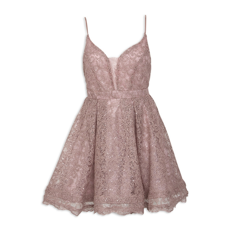 Dusty-Pink Designer Party-Dress -
