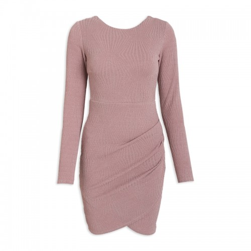 Pink Pleat Dress -