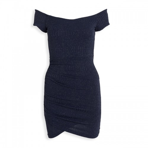 Navy Gather Dress -