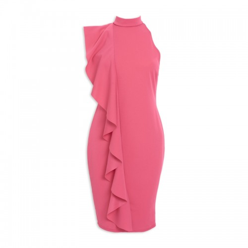 Pink Turtle-Neck Dress -
