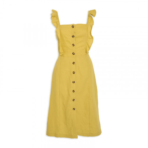 Citron Ruffle Dress -