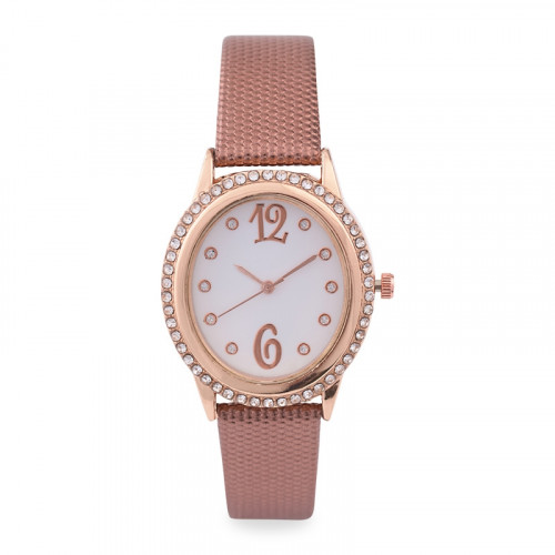 Bronze Diamante Watch -