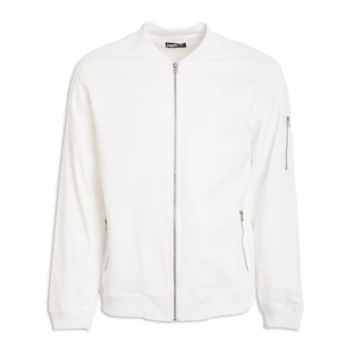 White Bomber Jacket -