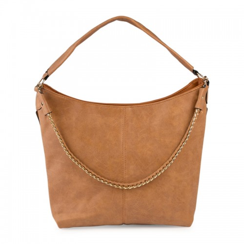 Brown Chain Hobo -