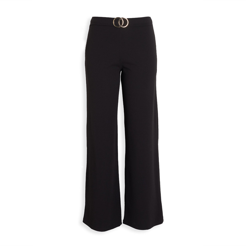 Black Buckle Pants -