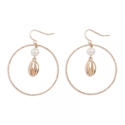 Shell Hoop Earrings -