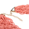 Coral Seedbead Necklace -