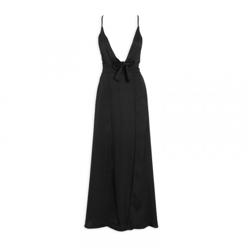 Black Knot-Front Dress -